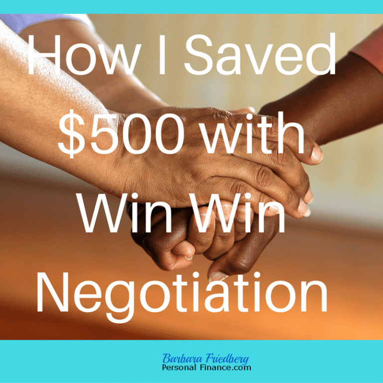 How I saved $500 with win win negotiation