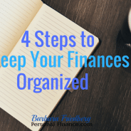 How to Keep Your Finances Organized in 4 Steps