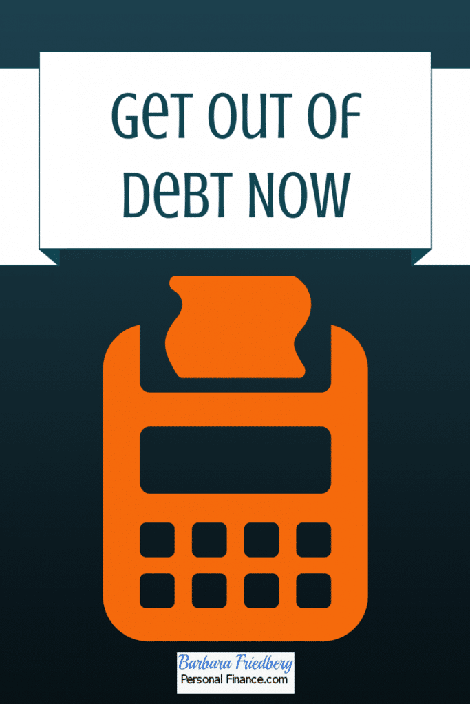 get out of debt now