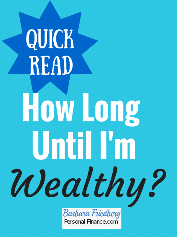 Wondering how long it takes until you're #wealthy? Find out here.
