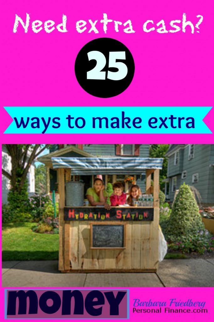 25 ways to make extra money