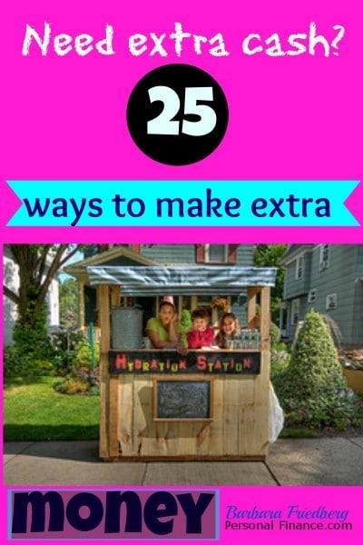 25 ways to make extra money