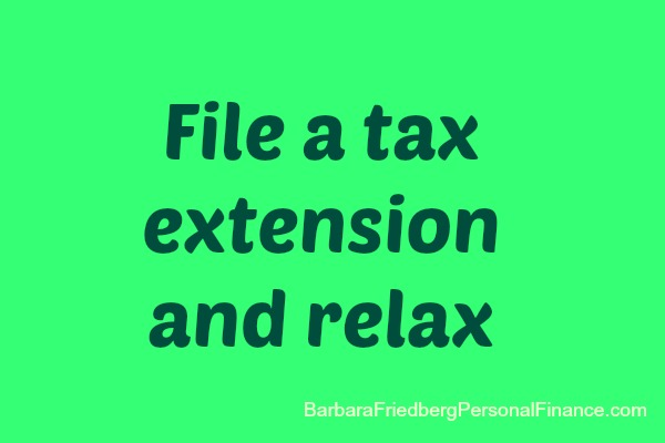 file a tax extension