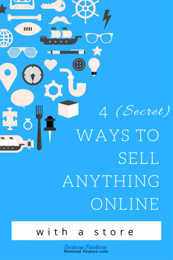 Sell anything online from home with a store.