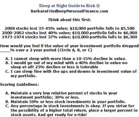 diversification strategy risk quiz