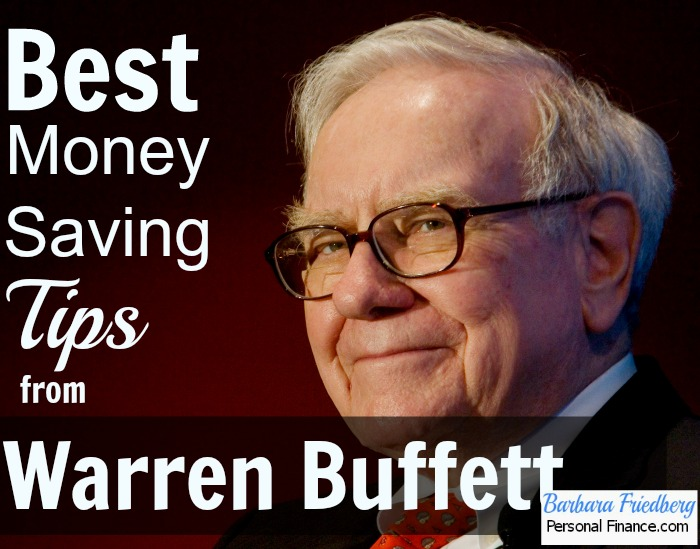 money saving tips from warren buffett