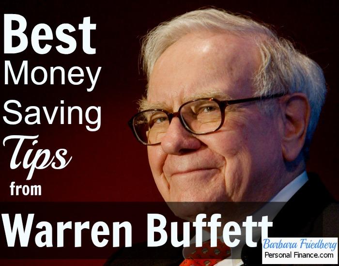 money saving tips from warren buffett