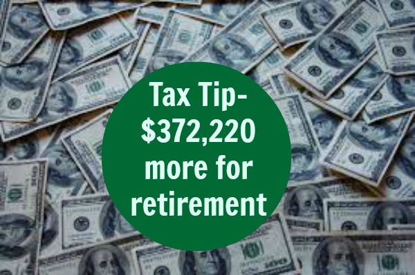 tax tip-more money for retirement