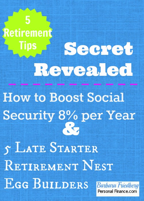 retirement tips * boost social security