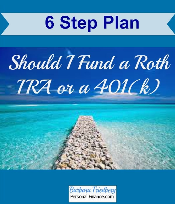 Contribute to Roth IRA or 401(k)