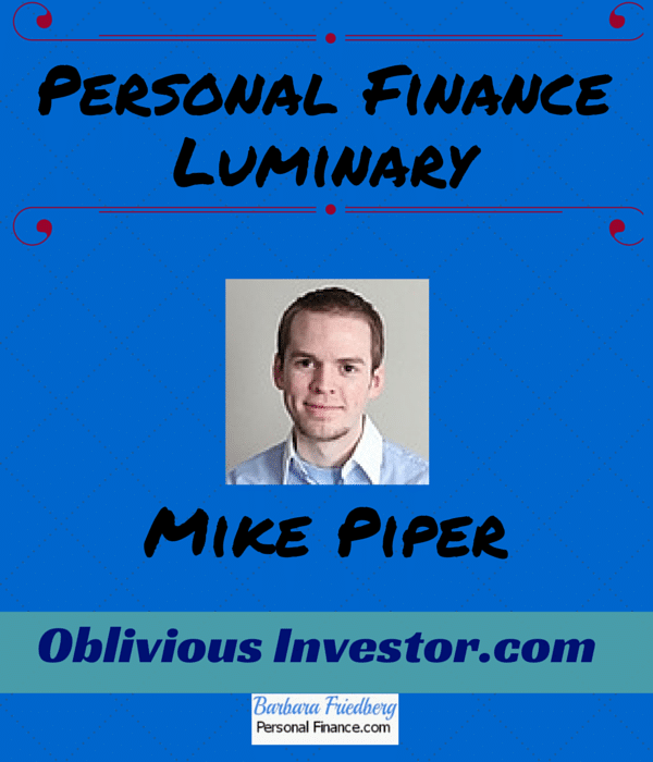 Mike Piper-Oblivious Investor- Personal Finance Luminary Interview Series