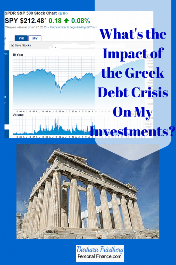 Impact of the Greek Debt Crisis On My Investments