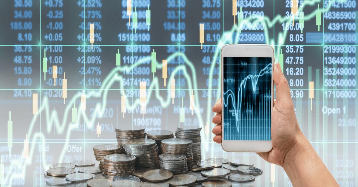 stock market chart_mobile