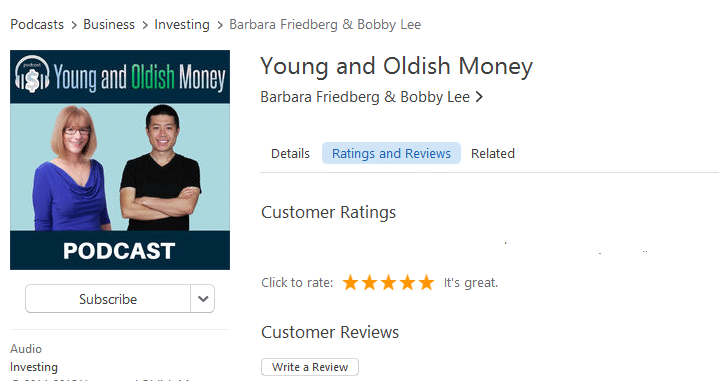 How to Review Young and Oldish Money Podcast