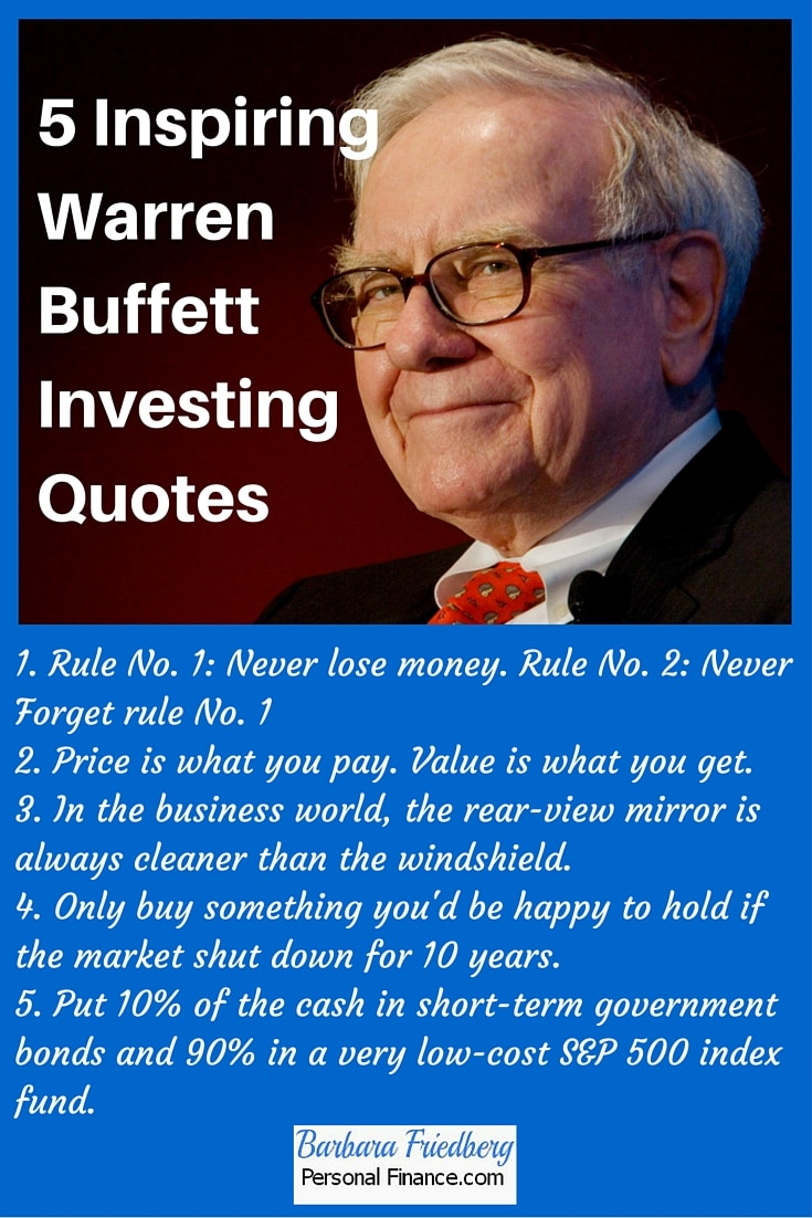 Mutual Fund Quotes Inspiring Warren Buffett Investing Quotes