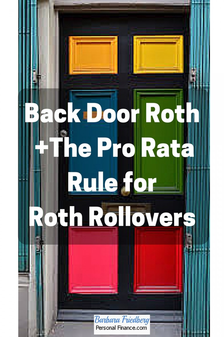 Pro Rata Rule for Roth Rollovers