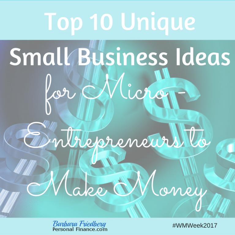 Unique small business ideas-Ways for micro-entrepreneurs to make money