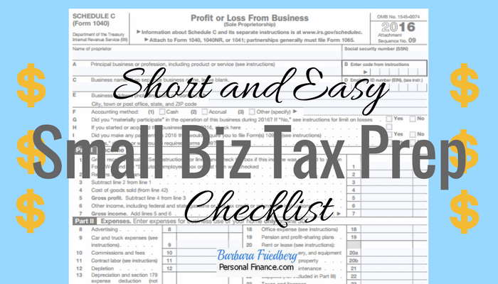 Small business tax preparation checklist-everything you need to know to keep biz tax prep easy