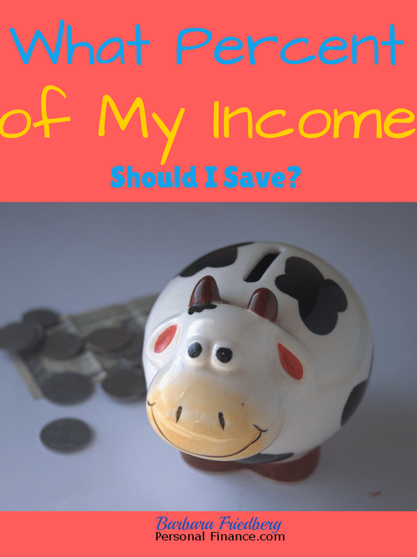 Find out what percent of your income you should save to build wealth for tomorrow.