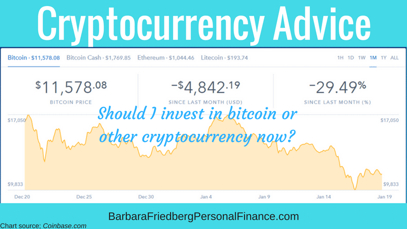 Should I invest in bitcoin or other cryptocurrencies?