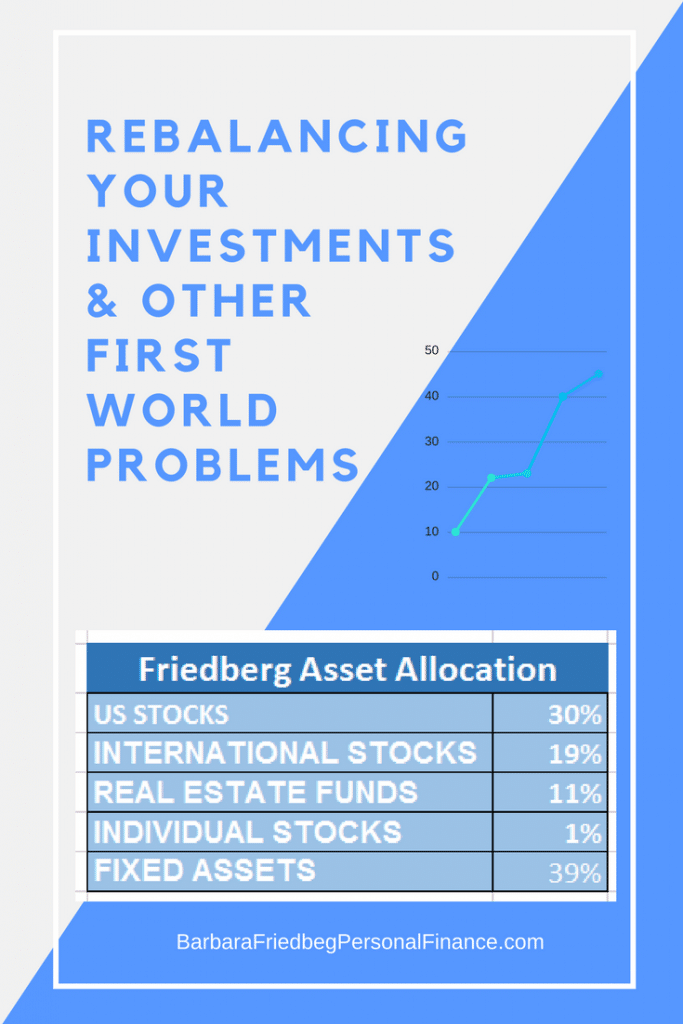 Rebalancing your asset allocation - investing worries and other first world problems.