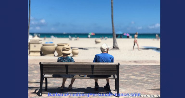 Retirement myths - old couple on bench