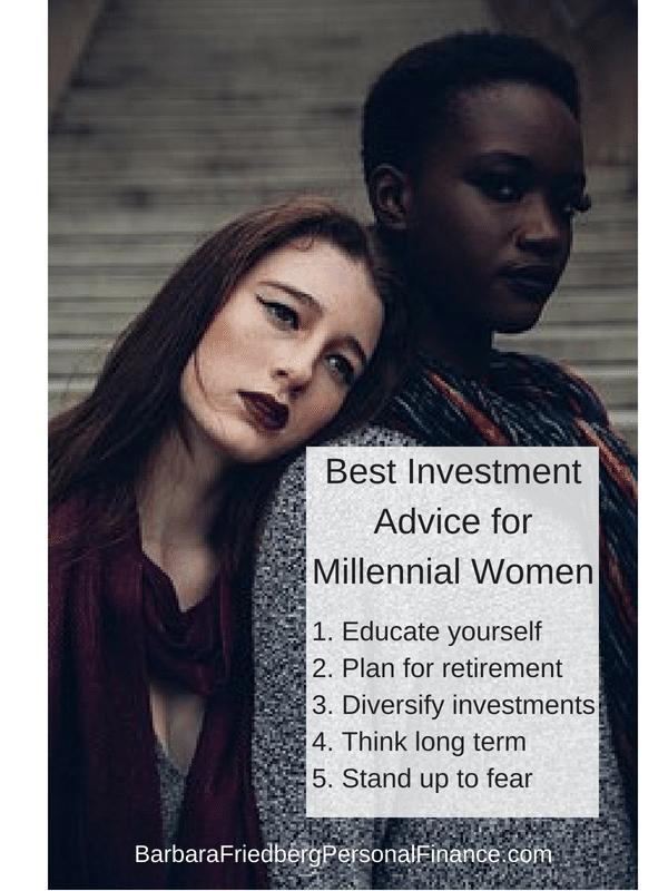 best investment advice for millennial women