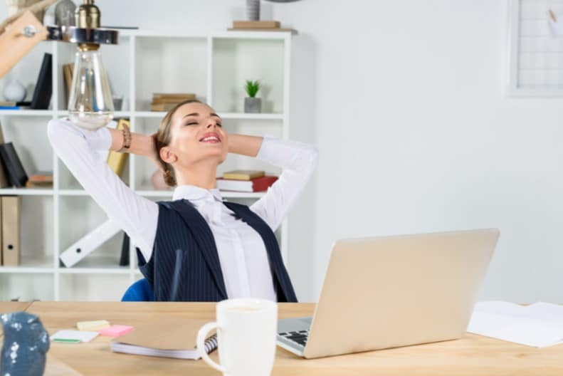 lazy portfolio investing woman