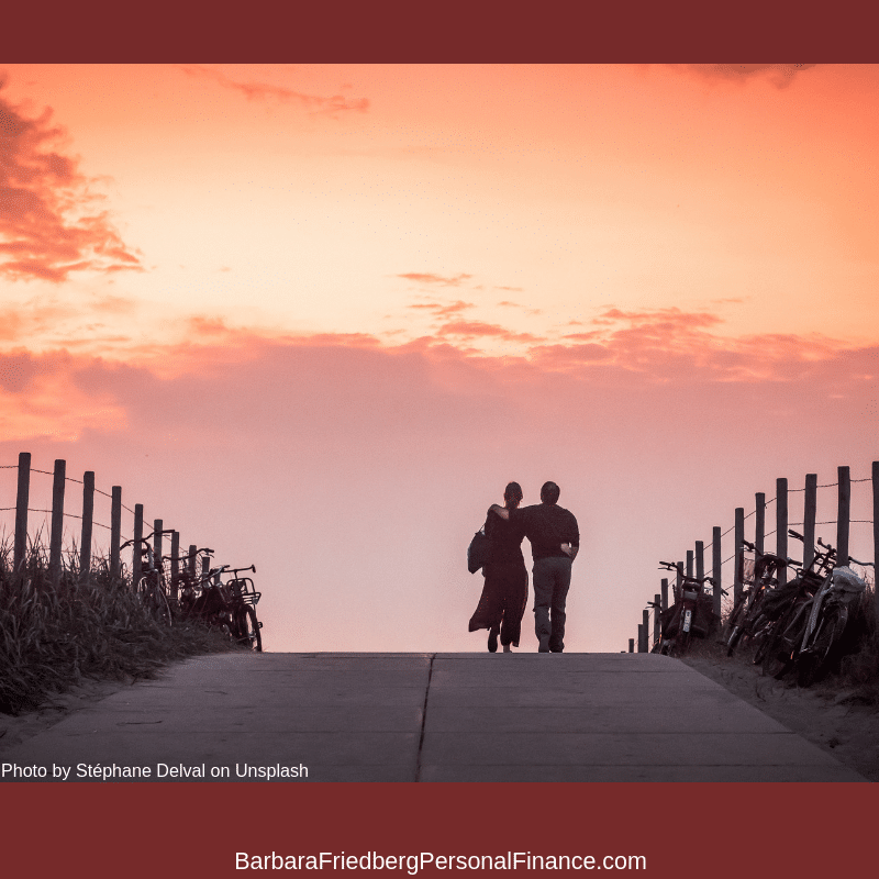 ways to withdraw retirement funds-couple walking in the sunset