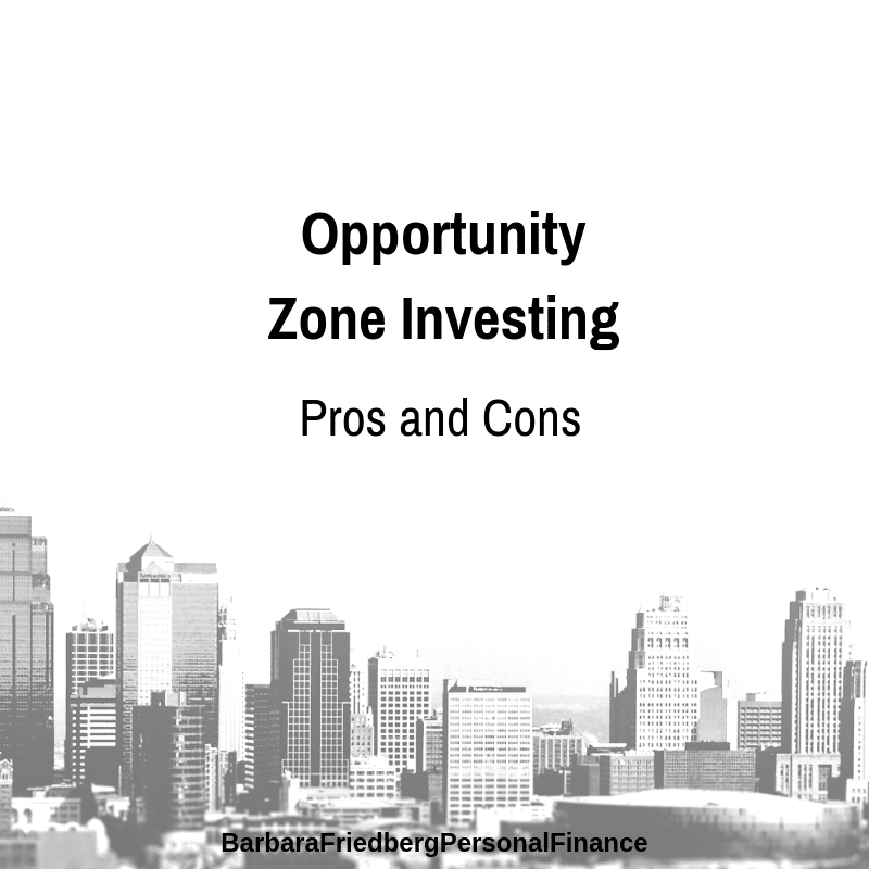 opportunity zone fund investing -pros and cons