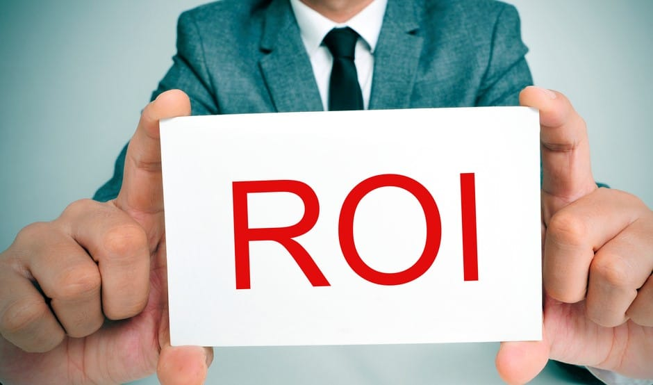 rate of return sign - roi