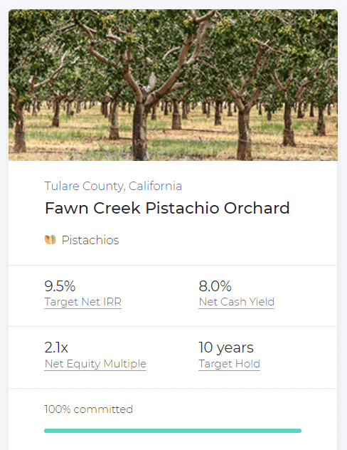 FarmTogether Investment - Tree orchard